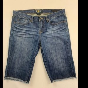 Lucky Brand Women's Blue Abbey Bermuda Jean Shorts
